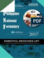 Phil Natl Formulary [2017]