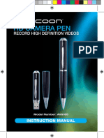 Cocoon HD Camera Pen Manual AV6185