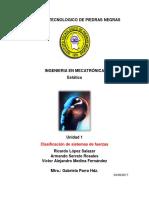 Clasificación de Sistemas de Fuerzas