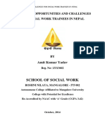 Yadav a.K. Opportuntiy and Challenges of Social Work Trainee