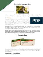 Loratadina y La Epinefrina Para Qué Sirve