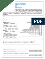 Withdrawal - Interruption Form