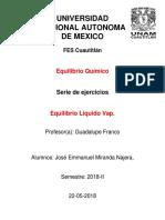 Serie Equilibrio Químico LIQ-VAP I.Q. Fes Cuautitlan