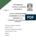 PRÁCTICA 9 Isomería I.Q. Fes Cuautitlan