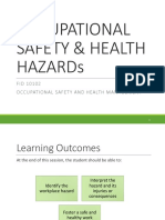 Special Week 12 - Occupational Safety & Hazard Recognition