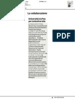 L'Università di Urbino e la FAO insieme per la biodiversità - Il Corriere Adriatico del 26 maggio 2018