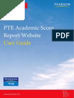 PTE Academic Score Report Website User Guide