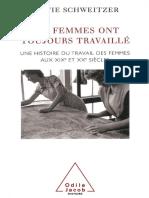 (Histoire) Sylvie Schweitzer-Les Femmes Ont Toujours Travaillé_ Une Histoire Du Travail Des Femmes Aux XIXe Et XXe Siècles-Odile Jacob (2002)