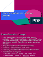 Projects Evaluation Methods(1)