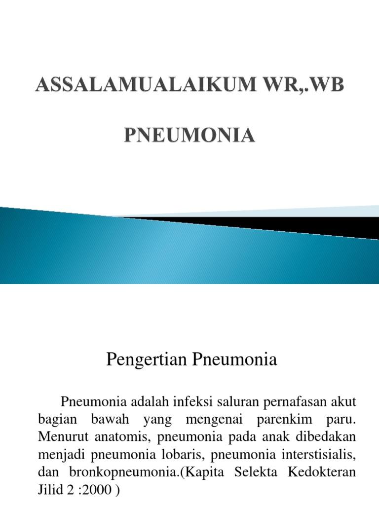Ppt Pneumonia R 24 B