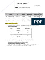 MFJO709 - Lab Test Request - Pipe 3.2