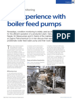 CM Experience With Boiler Feed Pumps