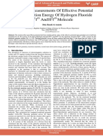 Theoretical Measurements of Effective Potential and Dissociation Energy of Hydrogen Fluoride H1f19 and H2f19 Molecule