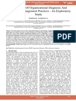 A Synthesis of Organizational Diagnosis and Knowledge Management Practices an Exploratory Study