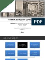 Lecture 2 - Problem-solving Tools