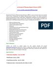 International Journal of Pharmacological Sciences IJPS