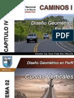 Caminos I Curvas Verticales Unasam Ing Alva PDF INTERNET