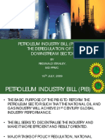Pi Band the Deregulation of the Downstream Sector