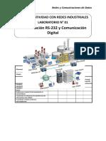 Lab 01 - Comunicacion RS232 y Comunicacion Digital - Cristhian Jesus Diaz Perez