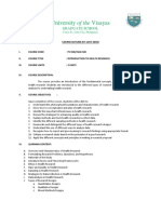 introduction to health research  course outline