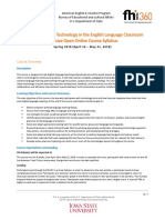 Using Educational Technology in the English Language Classroom_Syllabus (Spring 2018)
