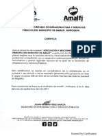 Certificado Documentos Originales