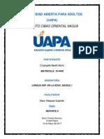 REPORTE II LENGUA ESPAÑOLA EN LA EDUCAICON BASICA VICTORIA.docx