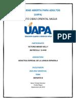 Reporte III Didactica de La Lengua Española Victoria
