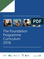 Foundation Programme Curriculum 2016