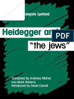 Lyotard Heidegger and the jews
