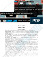 Law of Torts eBook & Lecture Notes PDF Download (Studynama.com - India's Biggest Website for Law Study Material Downloads)