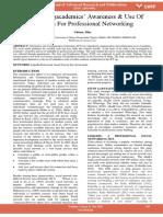 Investigatingacademics Awareness Use of Linkedin for Professional Networking