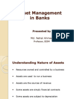 Asset Management in Banks