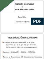Investigación Disciplinar e Investigación en Sistemas