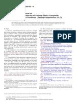 D6641-D6641M-09 Standard Test Method for Compressive Properties of Polymer Matrix Composite Materials Using a Combined Loading Compression (CLC) Test Fixture.pdf