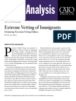 Extreme Vetting of Immigrants