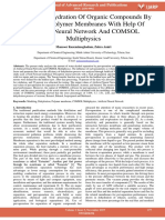 Modeling Dehydration of Organic Compounds by Means of Polymer Membranes With Help of Artificial Neural Network and Comsol Multiphysics