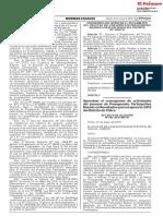 Aprueban el cronograma de actividades del proceso de Presupuesto Participativo Basado en Resultados para el ejercicio 2019 del Distrito de Chilca