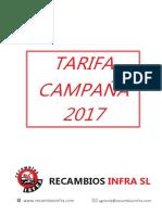 Recambios Infra Tarifa Campaña Web 2017