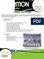 rethink your drink- newletter