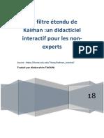 Le Filtre Kalman Étendu extended Kalman filter
