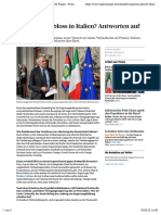 Was Passiert Bloss in Italien? Antworten Auf Sechs Fragen - News International