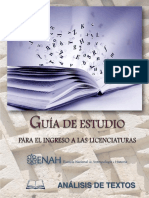 Ingreso ENAH  Módulo Análisis de Textos