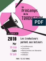 Printemps de la traduction 2018
