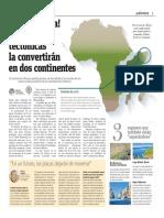 Adiós, África, Las Placas Tectónicas La Convertiran en Dos Continentes