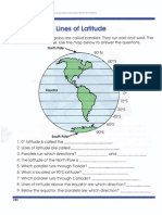 Global Geography Worksheets 4 Latitude