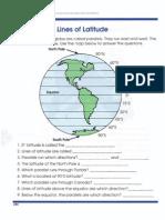 Global Geography Worksheets 4 Latitude