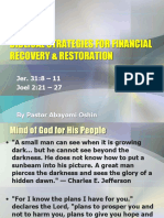 Biblical Strategies for Financial Recovery & Restoration
