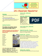 5th grade newsletter-week of 5