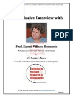 An Exclusive Interview with Prof. Leoni Bonamin by Dr Saurav Aora, IPRH